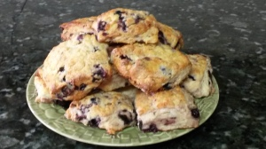 Substituted Almond Extract For The Lemon. http://www.crumbblog.com/2014/08/saskatoon-berry-scones.html